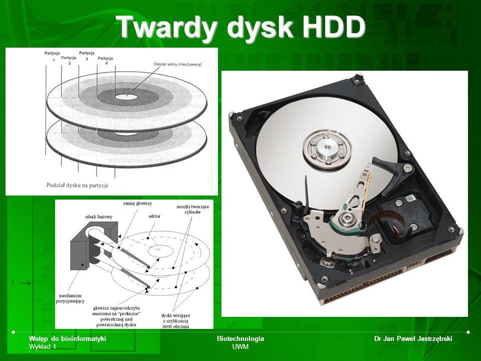Twardy dysk HDD Wstęp do bioinformatyki Wykład 1 Biotechnologia UWM