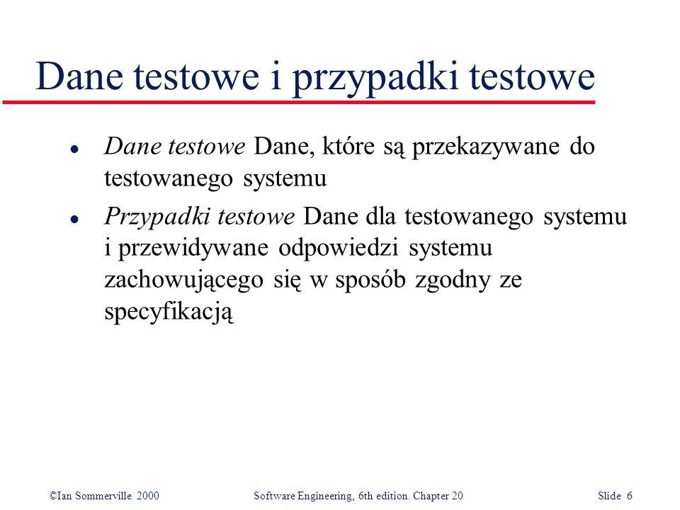 Dane testowe i przypadki testowe