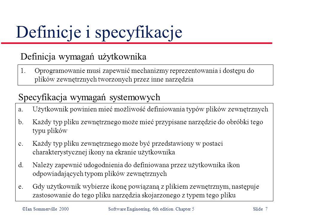 Definicje i specyfikacje