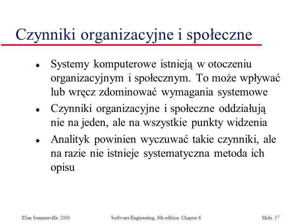 Czynniki organizacyjne i społeczne