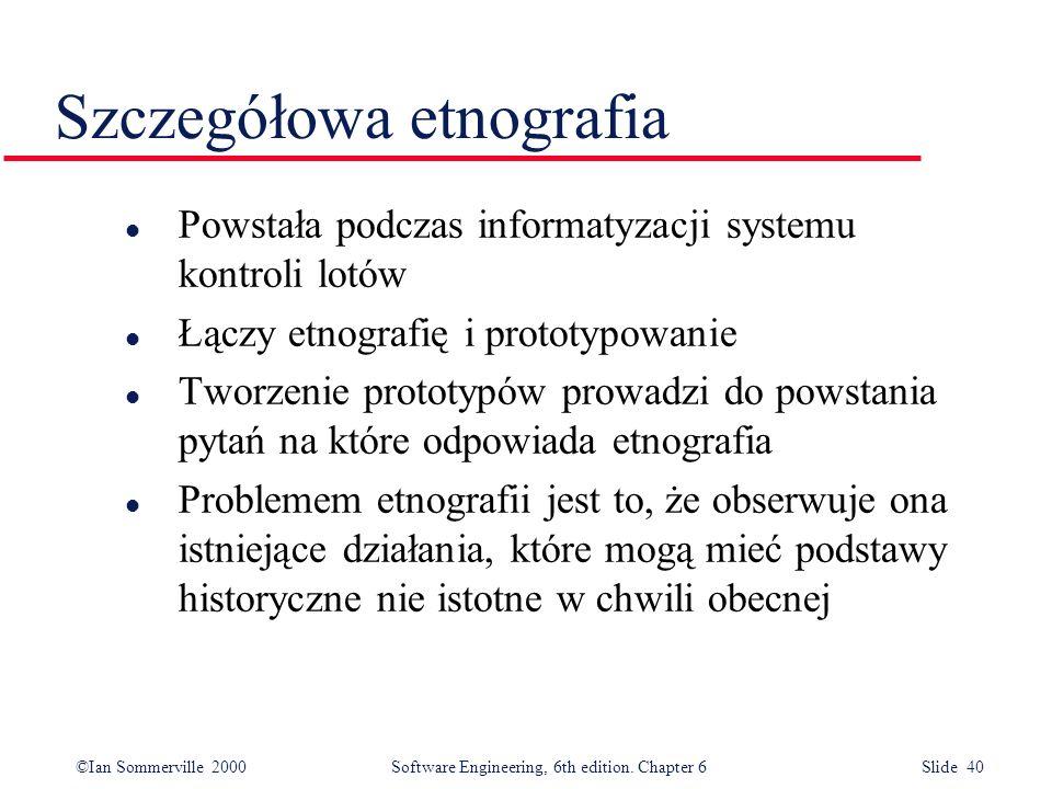 Szczegółowa etnografia