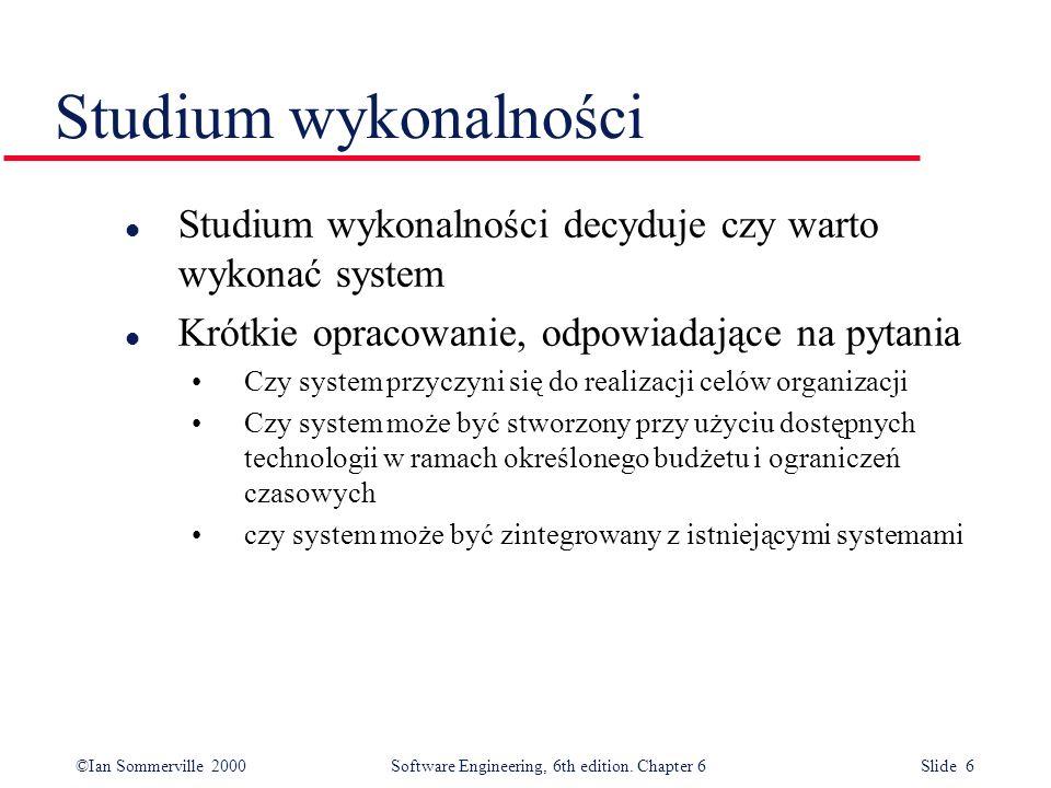 Studium wykonalnościStudium wykonalności decyduje czy warto wykonać system. Krótkie opracowanie, odpowiadające na pytania.
