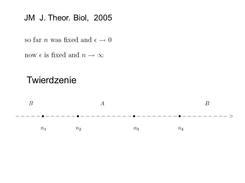 JM J. Theor. Biol, 2005 Twierdzenie
