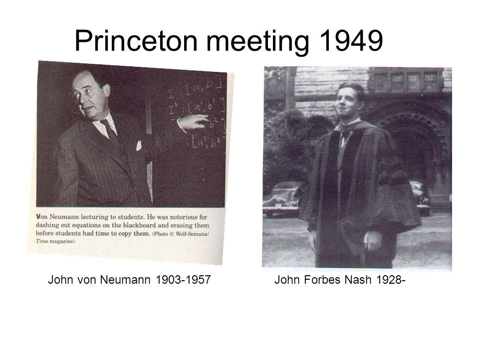 Princeton meeting 1949 John von Neumann 1903-1957
