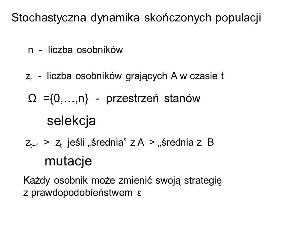 selekcja mutacje Stochastyczna dynamika skończonych populacji