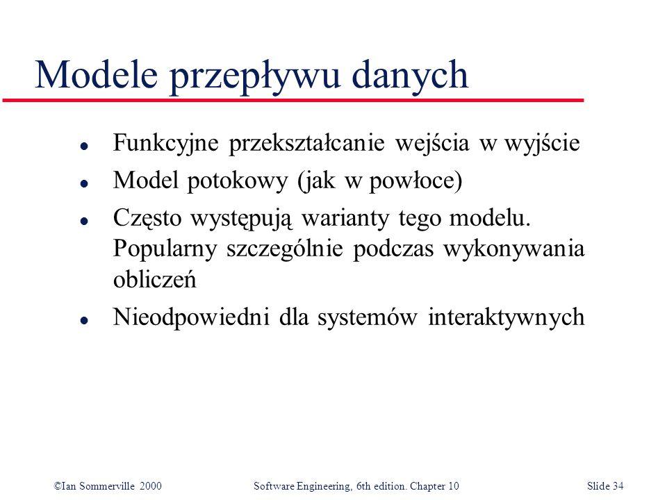 Modele przepływu danych