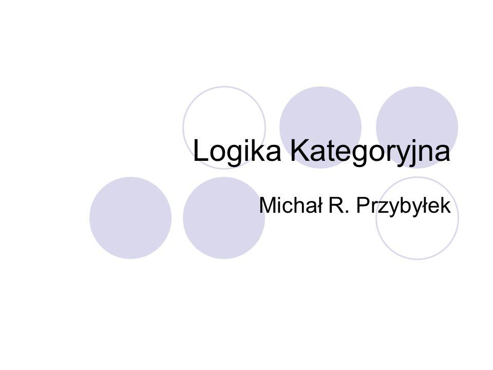 Logika Kategoryjna Michał R. Przybyłek