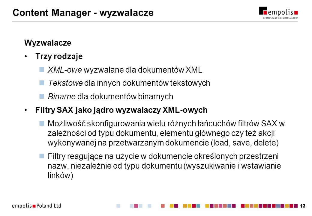Content Manager - wyzwalacze