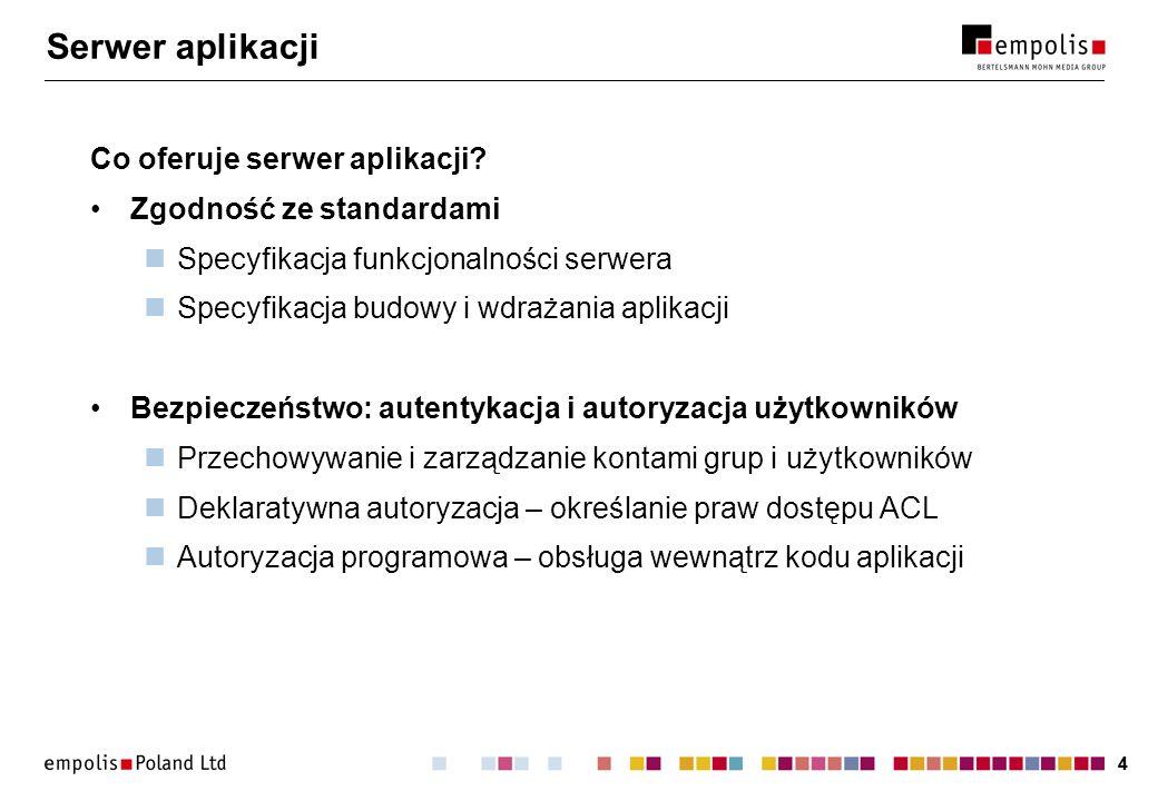 Serwer aplikacji Co oferuje serwer aplikacji Zgodność ze standardami
