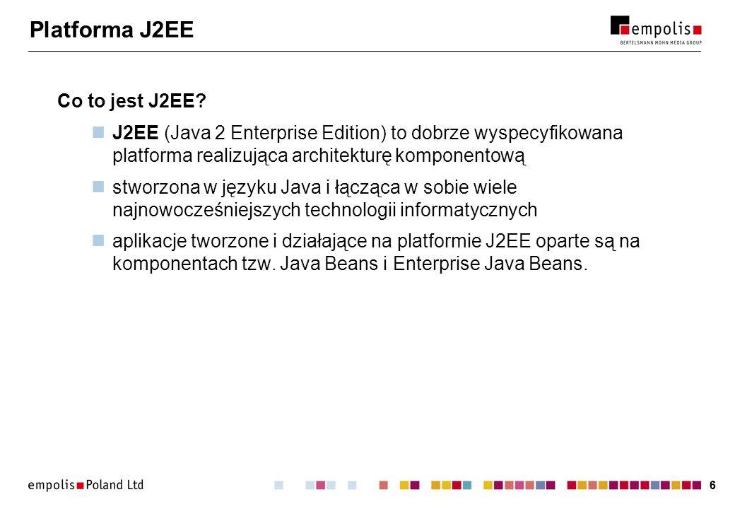 Platforma J2EE Co to jest J2EE