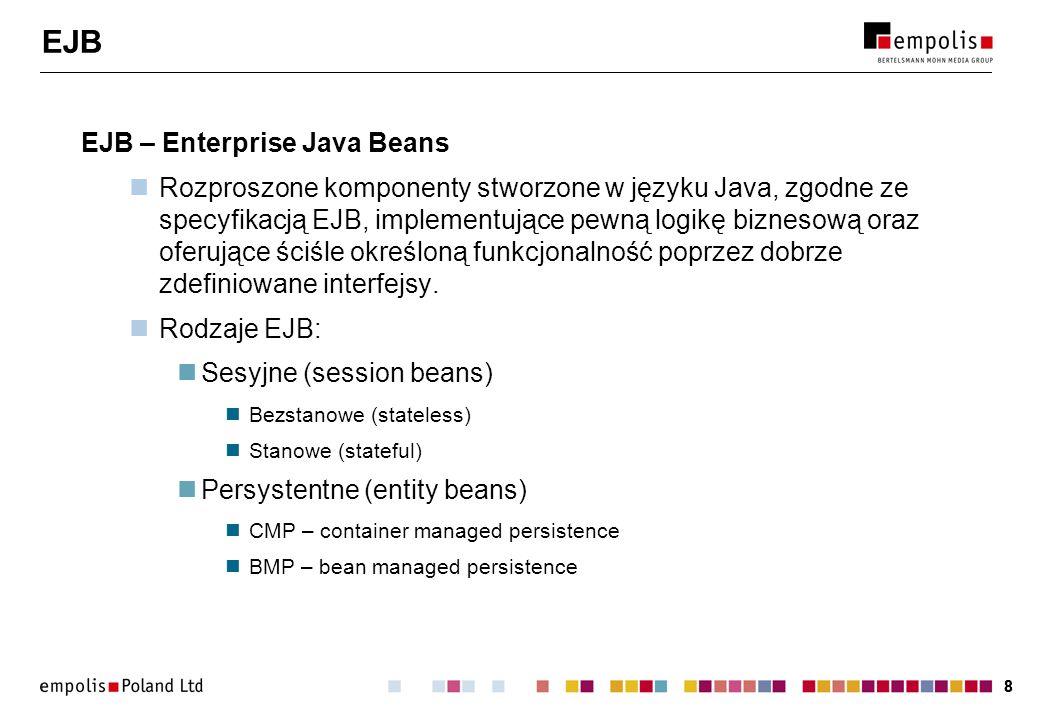 EJB EJB – Enterprise Java Beans