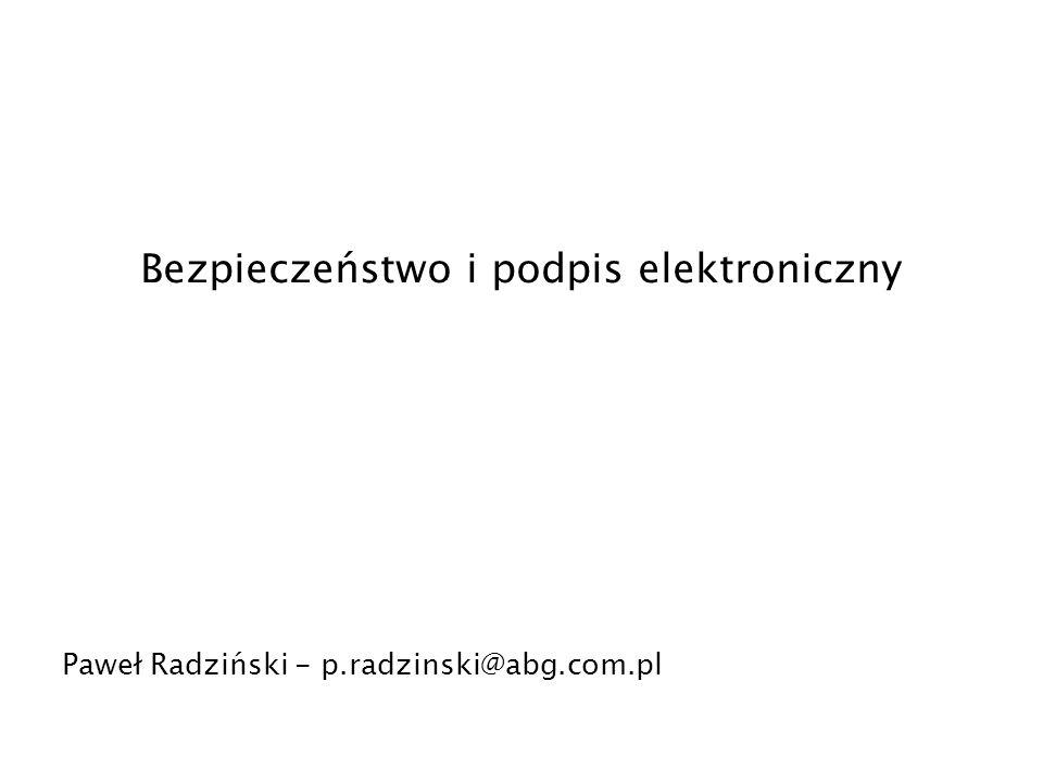 Bezpieczeństwo i podpis elektroniczny
