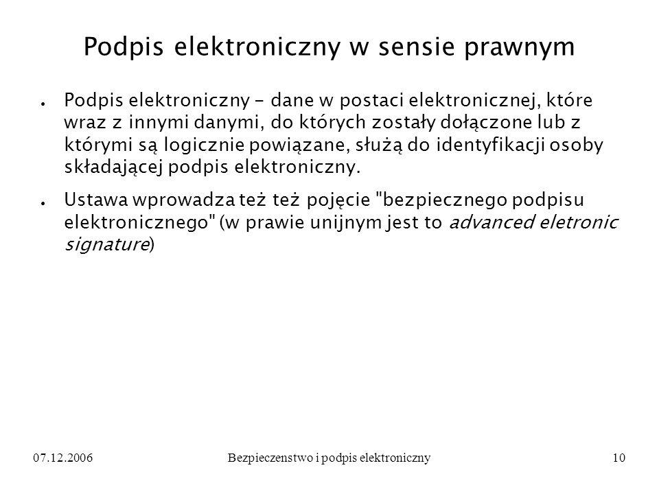 Podpis elektroniczny w sensie prawnym