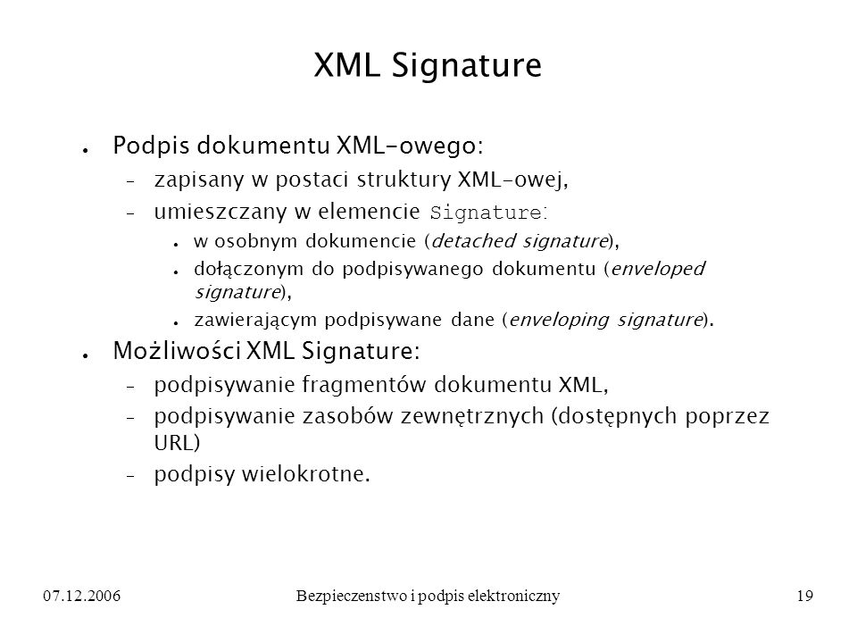 Bezpieczenstwo i podpis elektroniczny