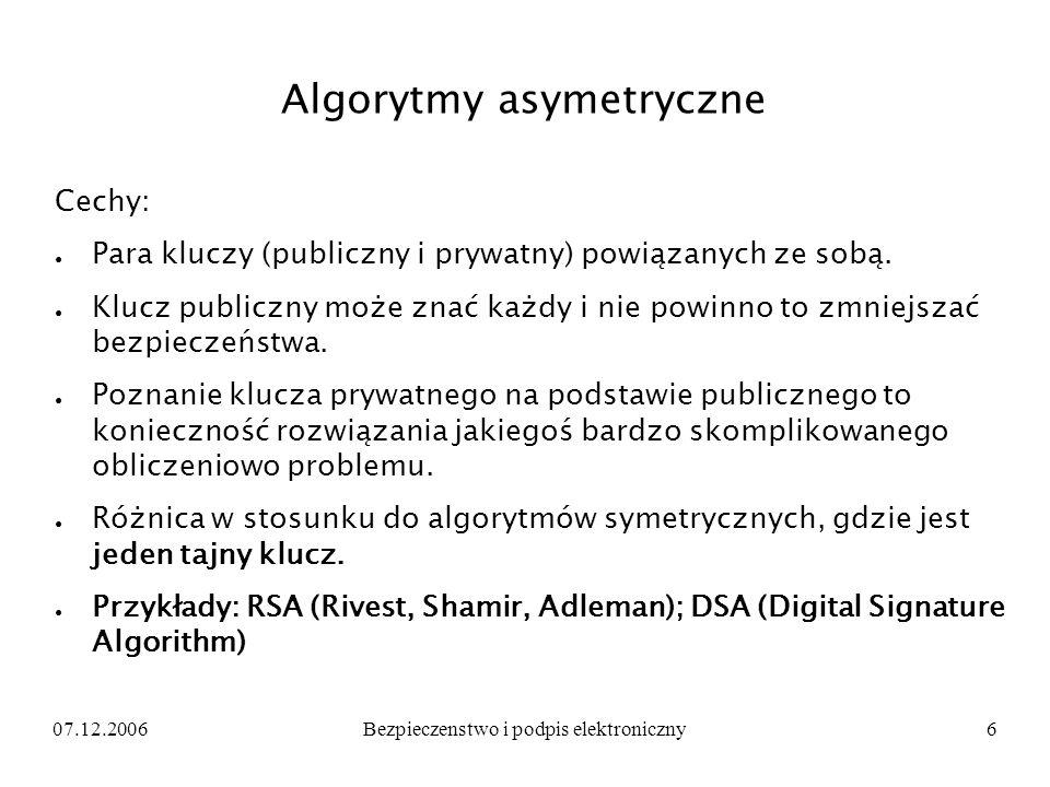 Algorytmy asymetryczne