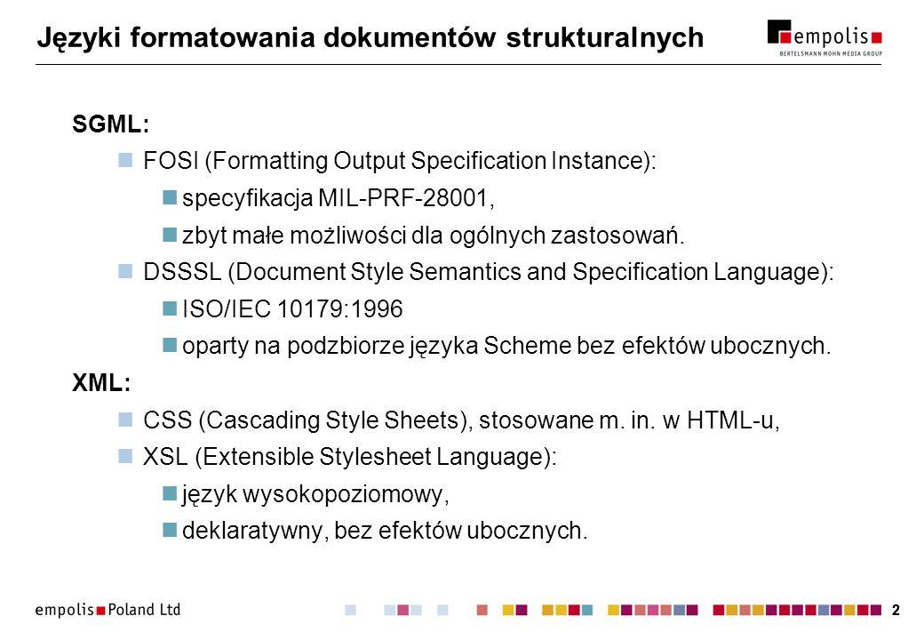 Języki formatowania dokumentów strukturalnych