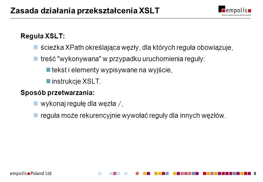 Zasada działania przekształcenia XSLT