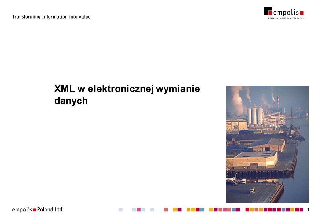 XML w elektronicznej wymianie danych