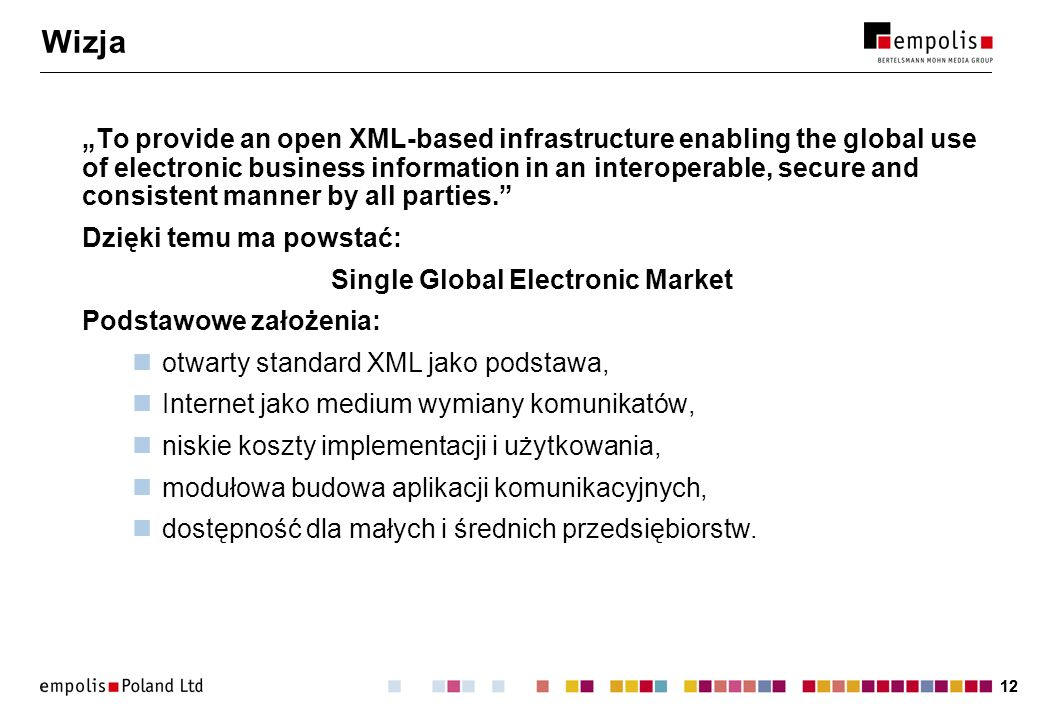 Single Global Electronic Market