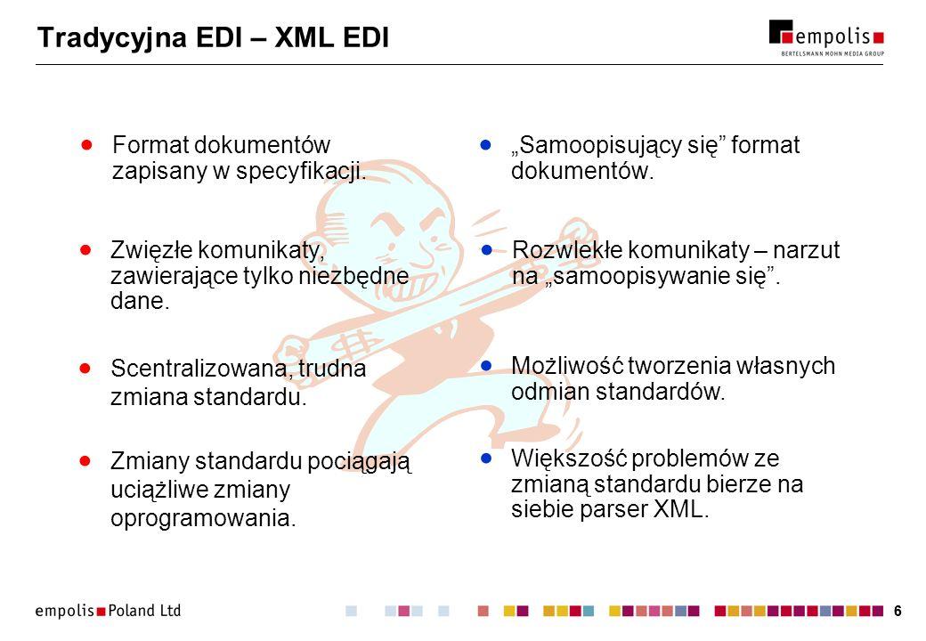 Tradycyjna EDI – XML EDI