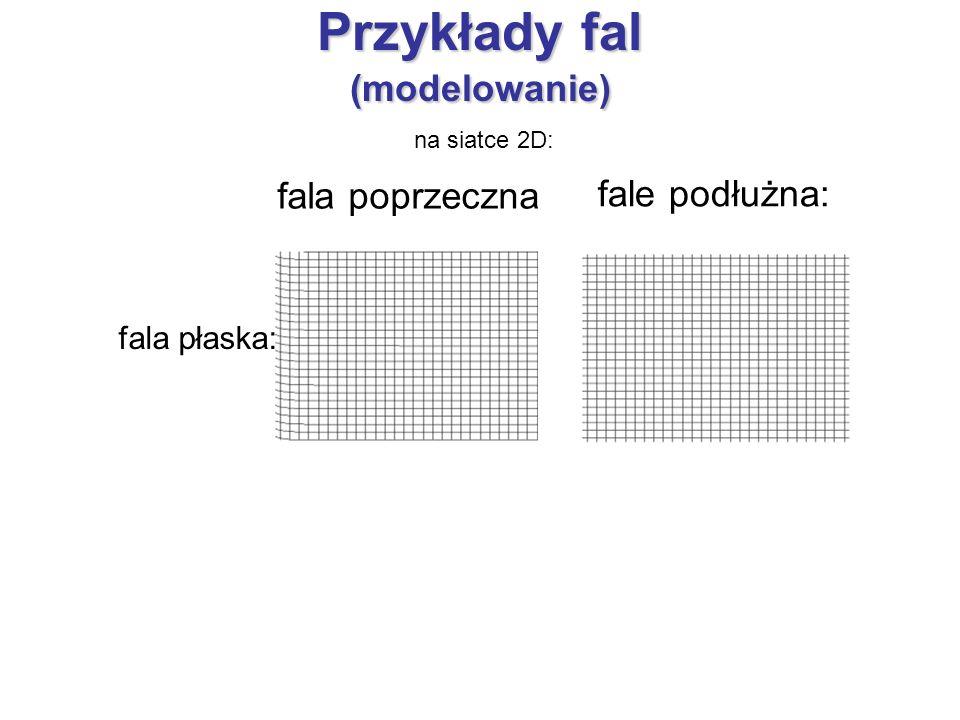 Przykłady fal (modelowanie)