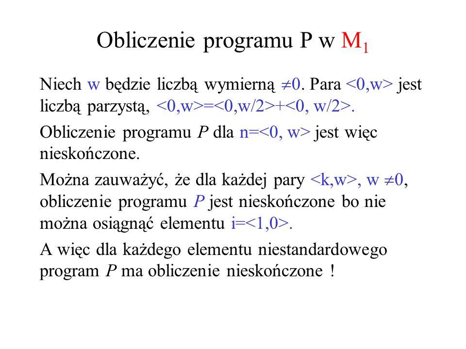 Obliczenie programu P w M1