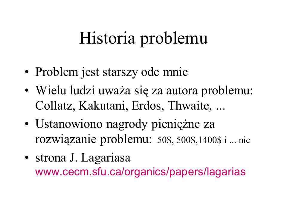 Historia problemu Problem jest starszy ode mnie