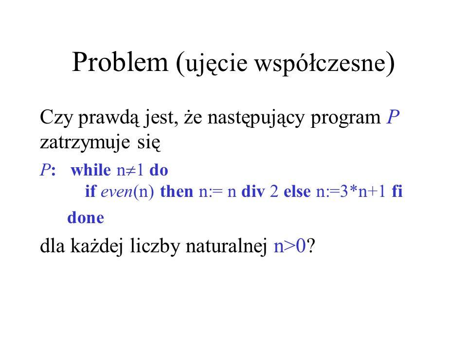 Problem (ujęcie współczesne)
