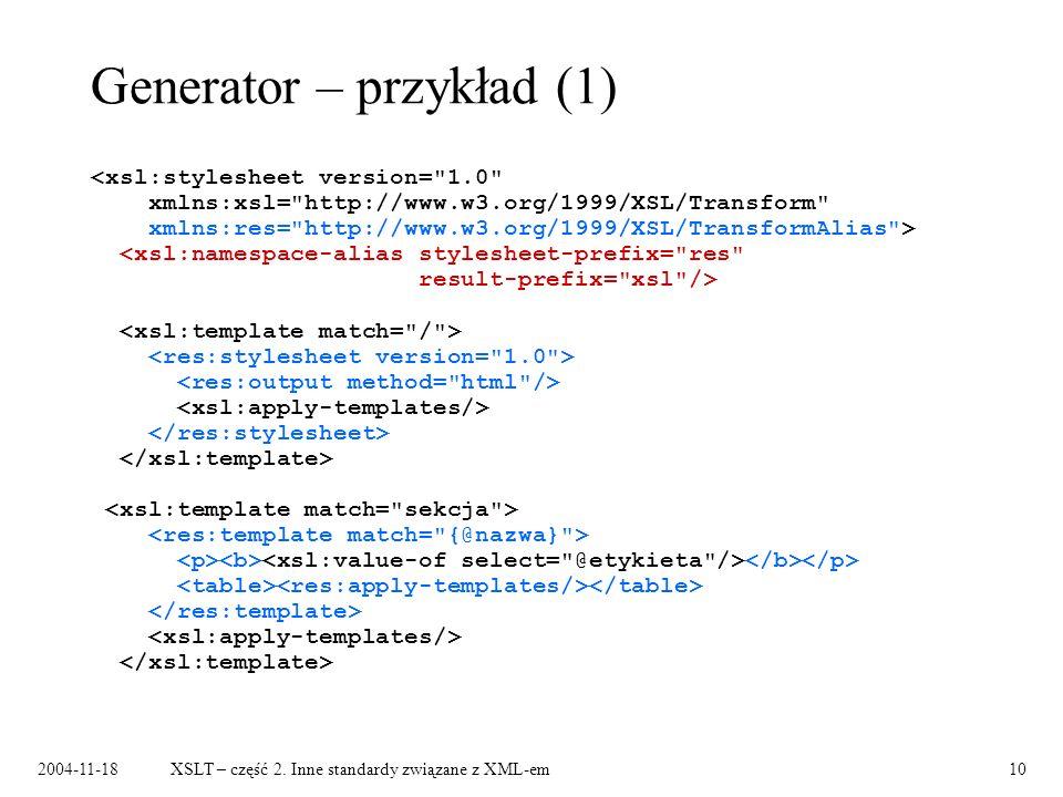 Generator – przykład (1)