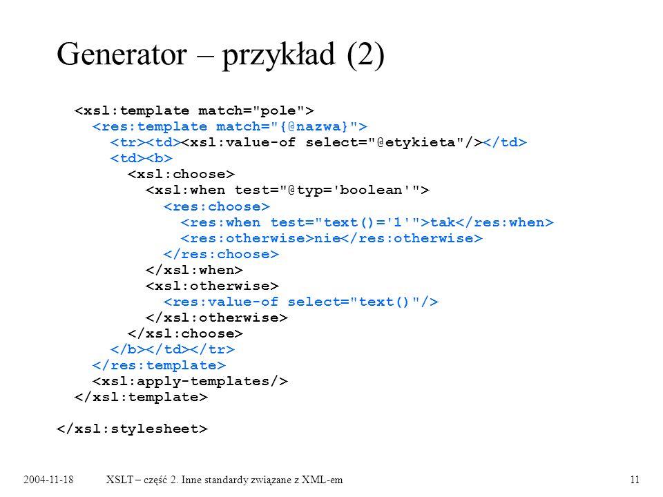Generator – przykład (2)