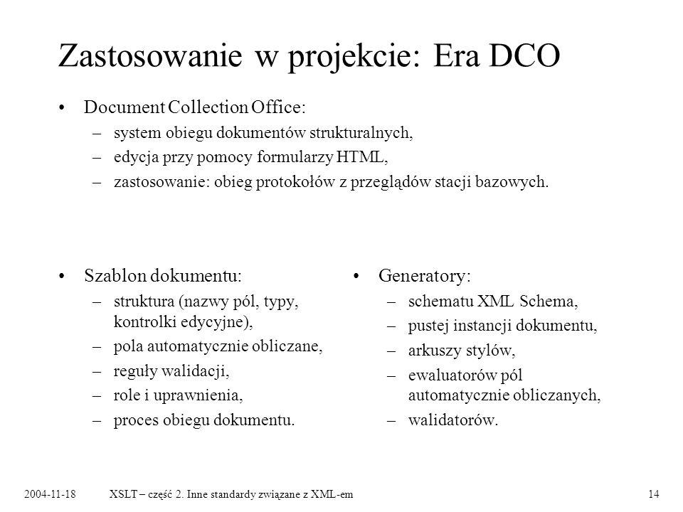 Zastosowanie w projekcie: Era DCO