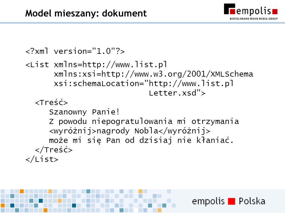 Model mieszany: dokument