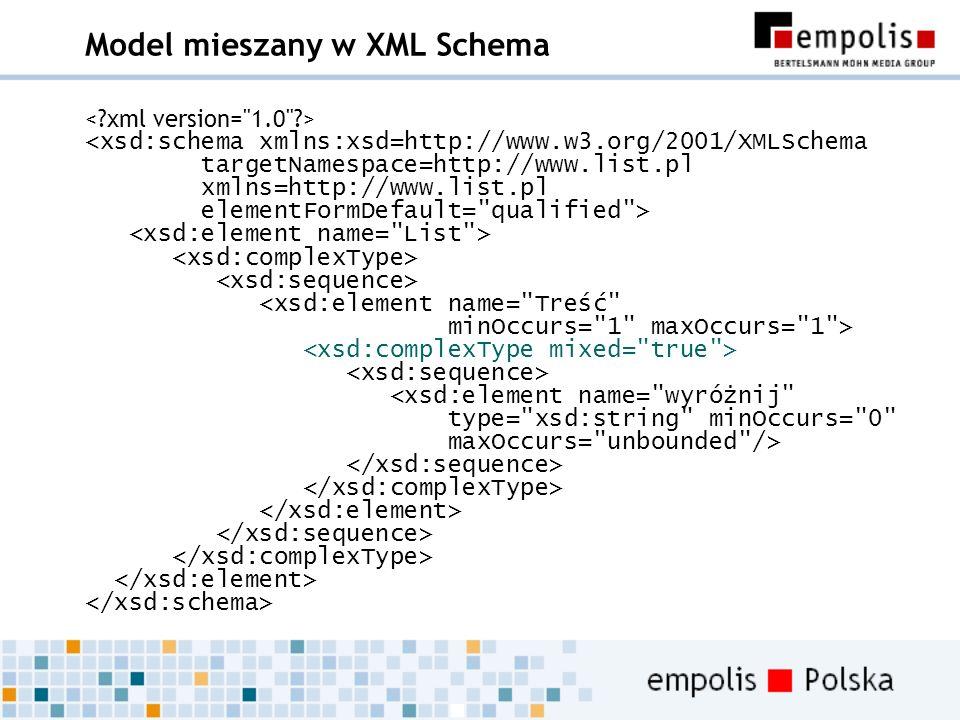 Model mieszany w XML Schema