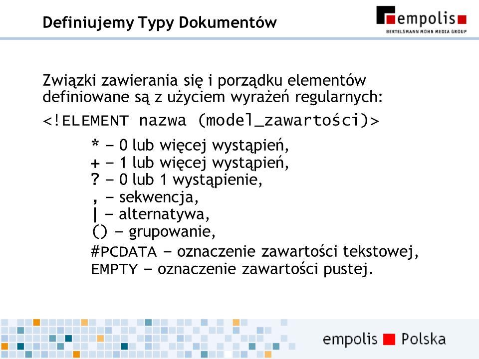 Definiujemy Typy Dokumentów