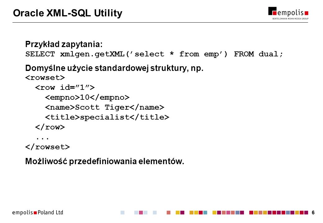 Oracle XML-SQL Utility