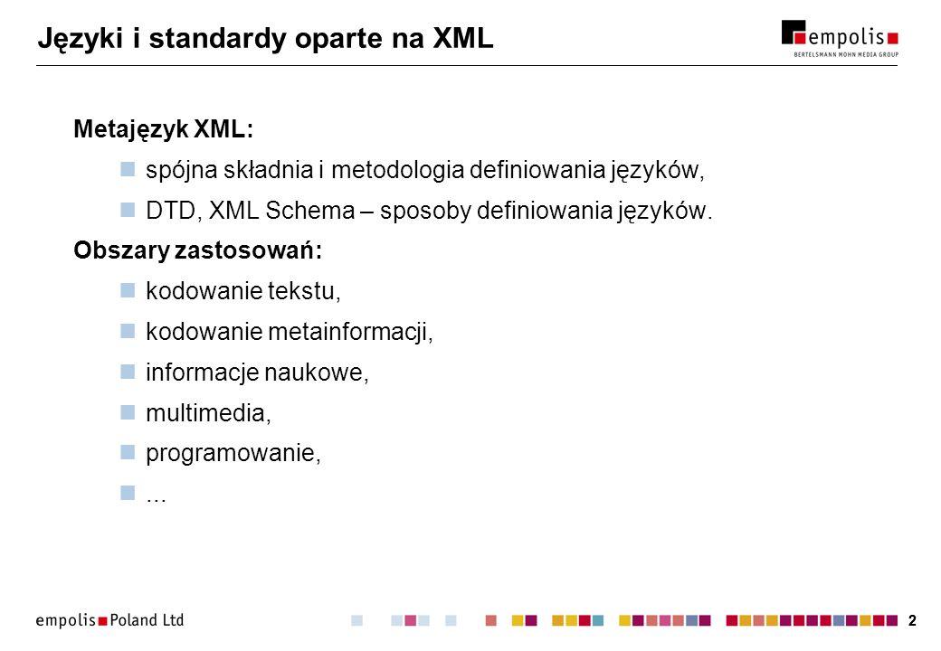 Języki i standardy oparte na XML