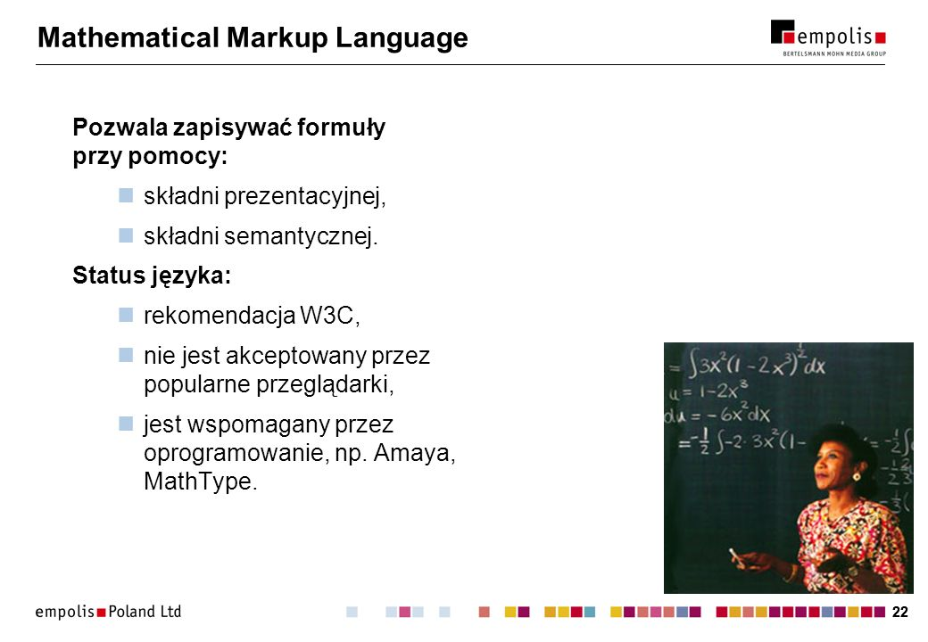 Mathematical Markup Language