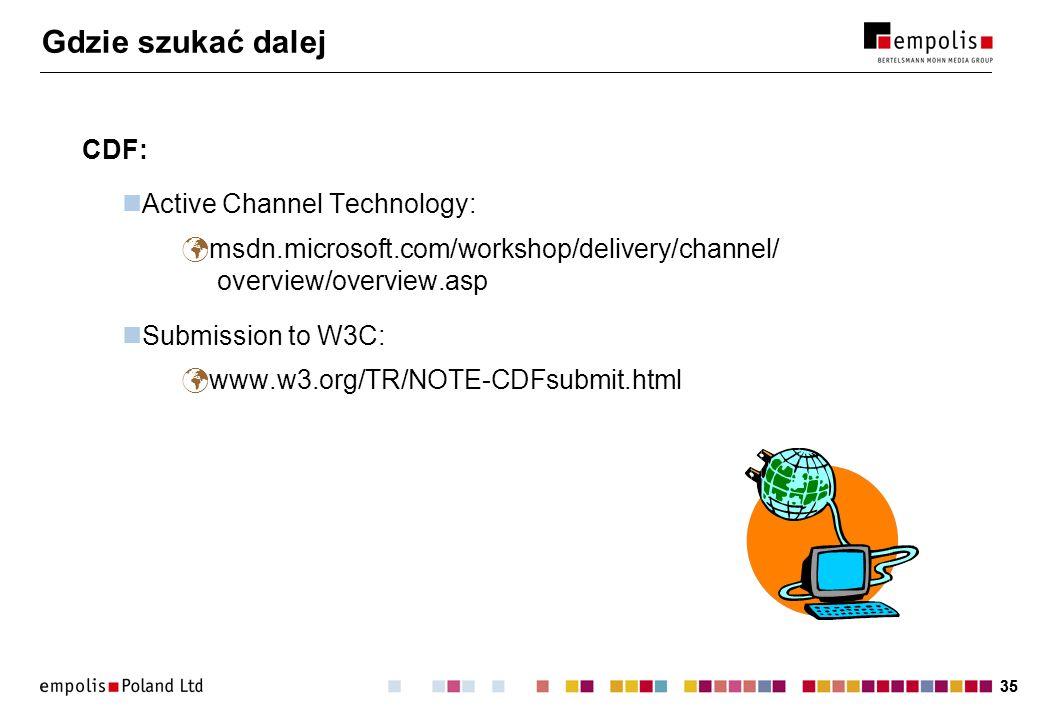Gdzie szukać dalej CDF: Active Channel Technology: