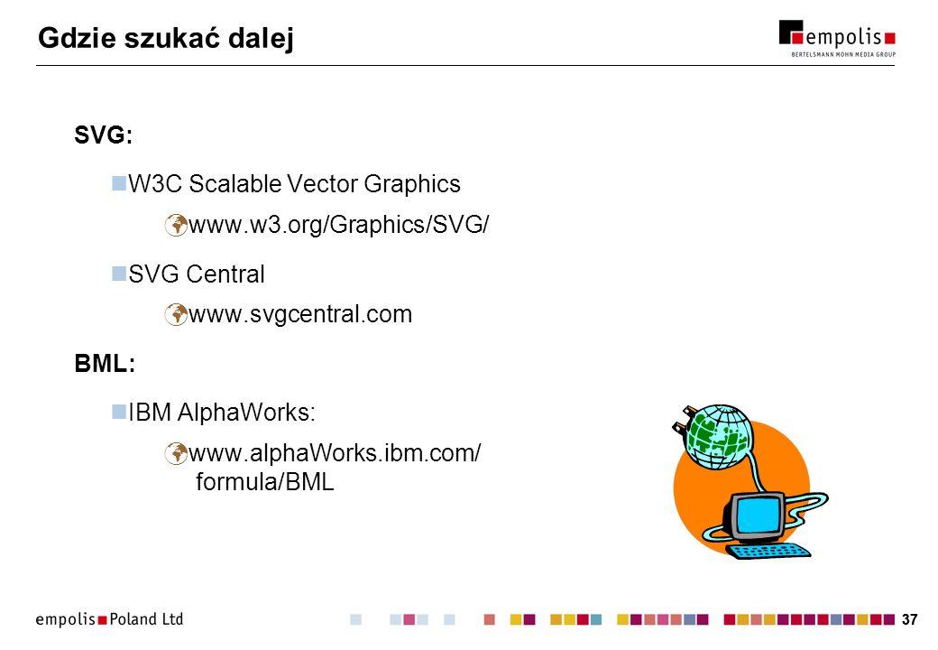 Gdzie szukać dalej SVG: W3C Scalable Vector Graphics