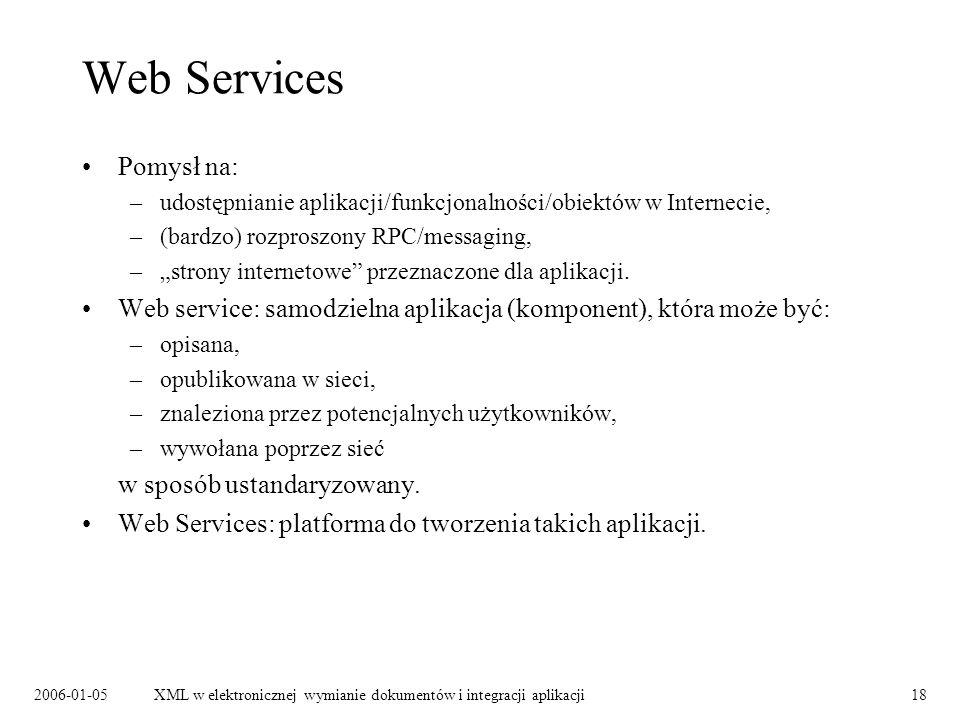 Web Services Pomysł na: