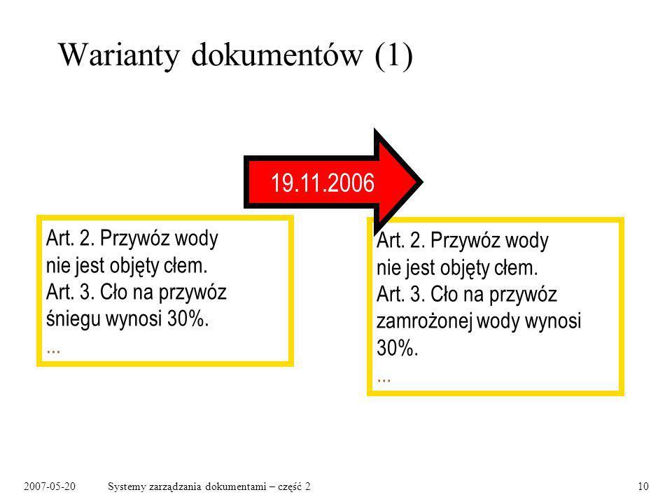Warianty dokumentów (1)