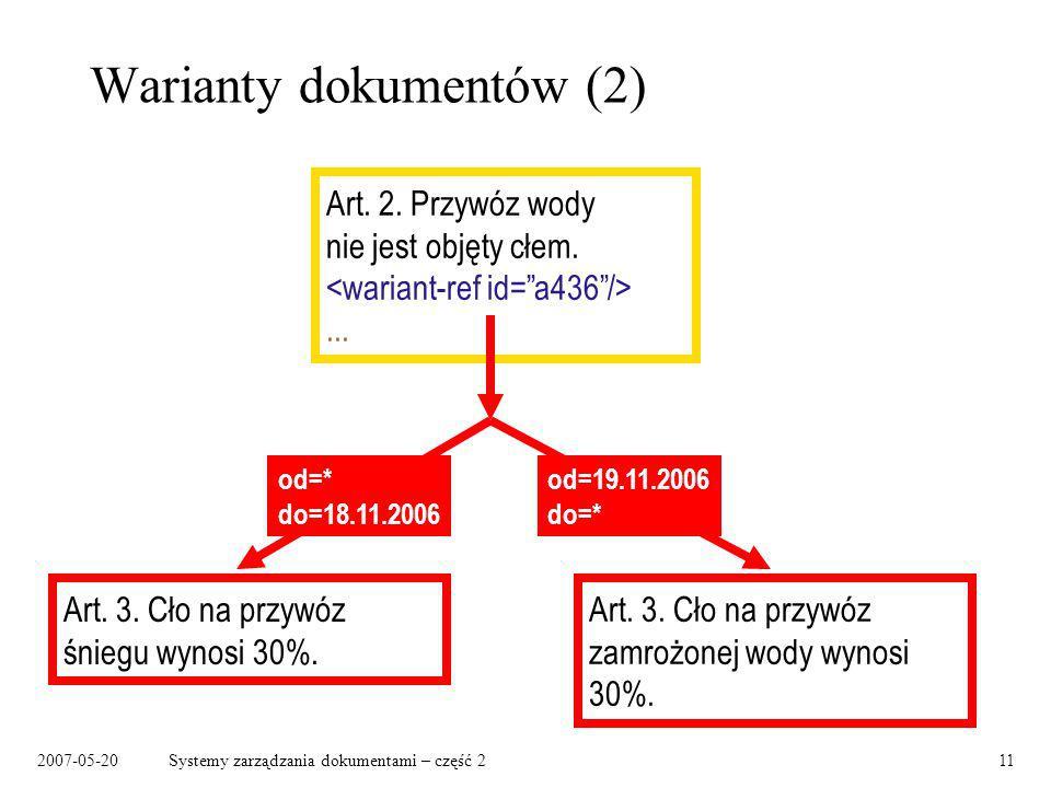 Warianty dokumentów (2)