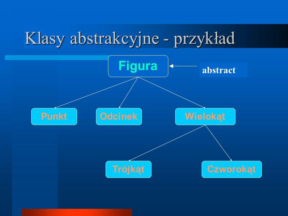 Klasy abstrakcyjne - przykład