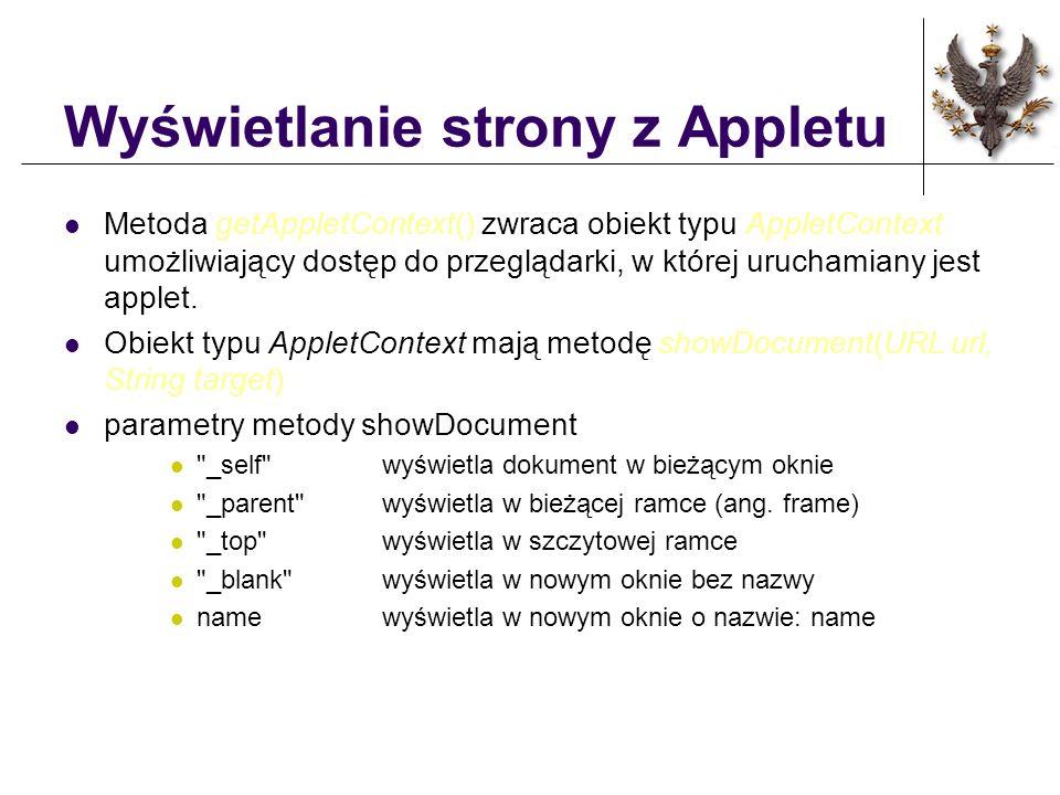 Wyświetlanie strony z Appletu