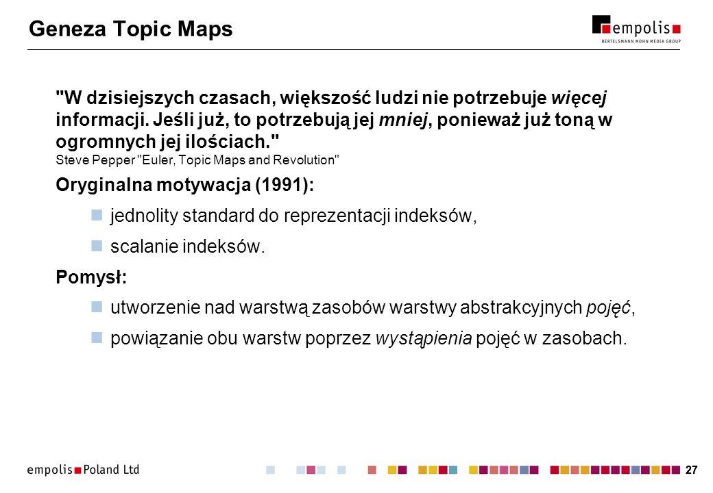 Geneza Topic Maps