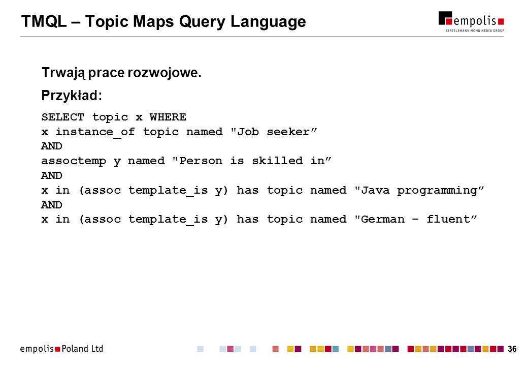 TMQL – Topic Maps Query Language