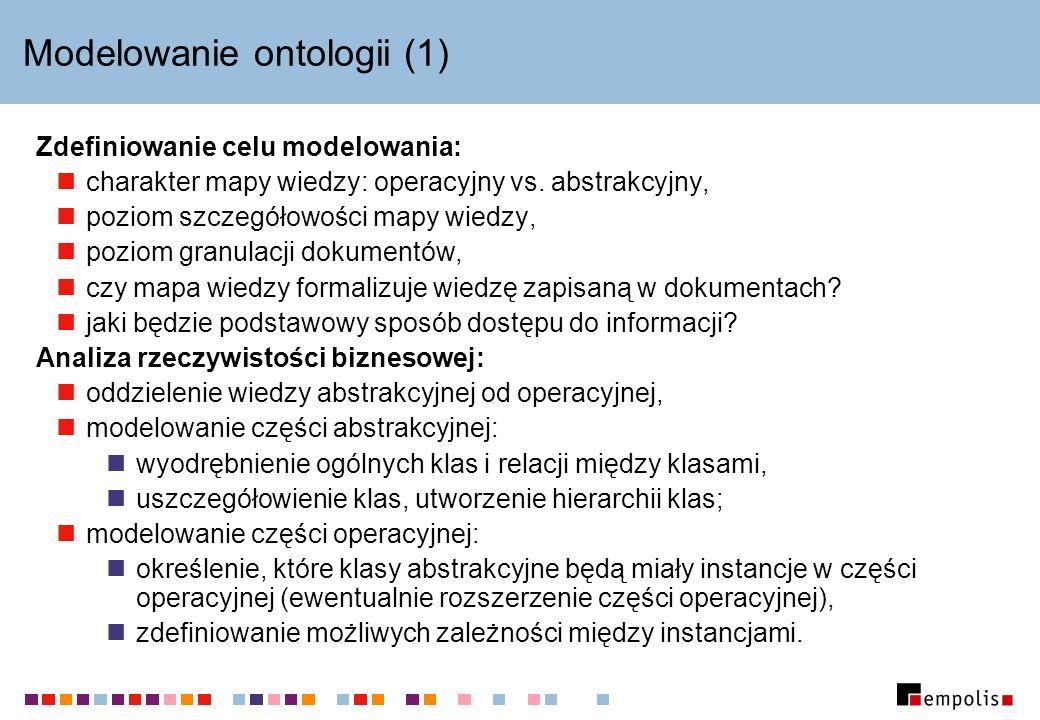 Modelowanie ontologii (1)
