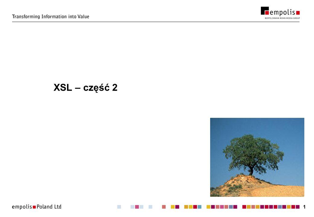 XSL – część 2