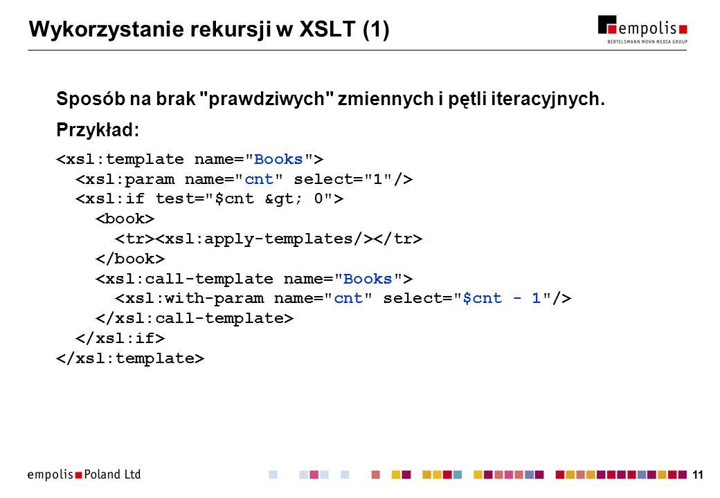 Wykorzystanie rekursji w XSLT (1)