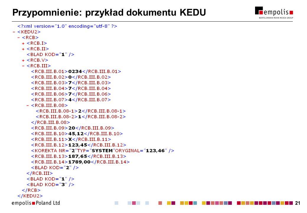 Przypomnienie: przykład dokumentu KEDU